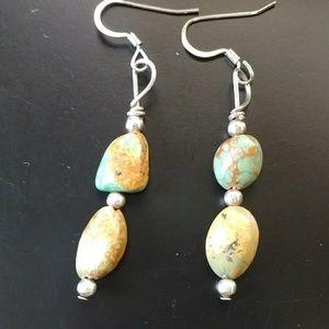 Vintage turquoise stone earrings